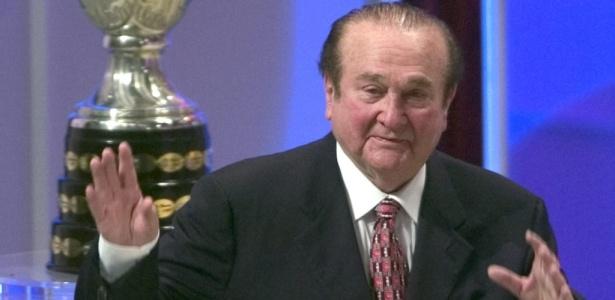 Nicolás Leoz, presidente da Conmebol; entidade promoverá torneio de seleções em 2016