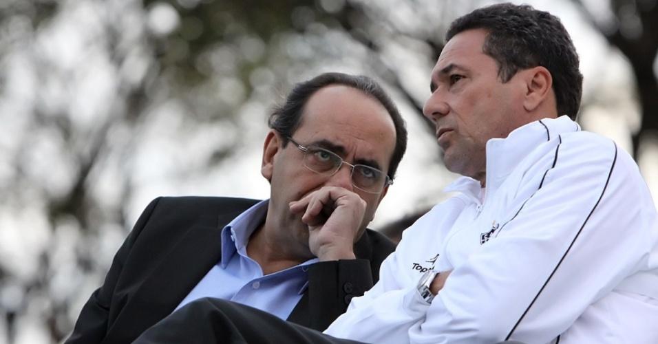 Kalil e Luxemburgo durante treino do Atlético-MG