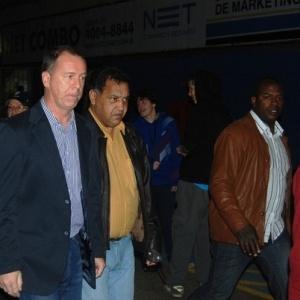 Técnico da seleção brasileira Mano Menezes chega ao Olímpico para assistir à Grêmio x Santos