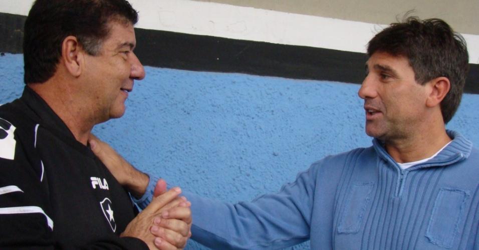 Renato Gaúcho e Joel Santana se encontraram no Olímpico