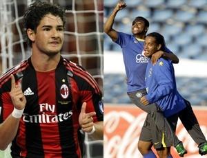 Alexandre Pato, Robinho e Ronaldinho Gaúcho