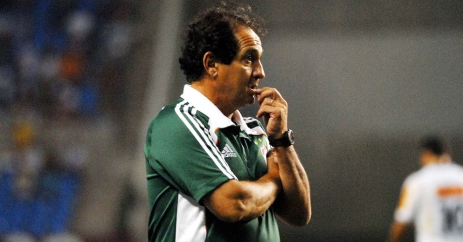 Muricy Ramalho durante a partida entre Fluminense e Atlético-MG