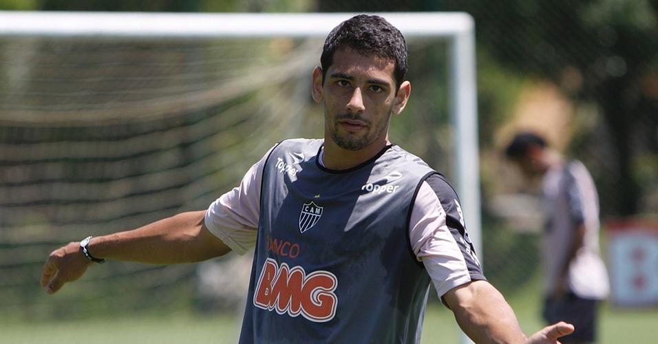 Diego Souza em treino no Atlético-MG