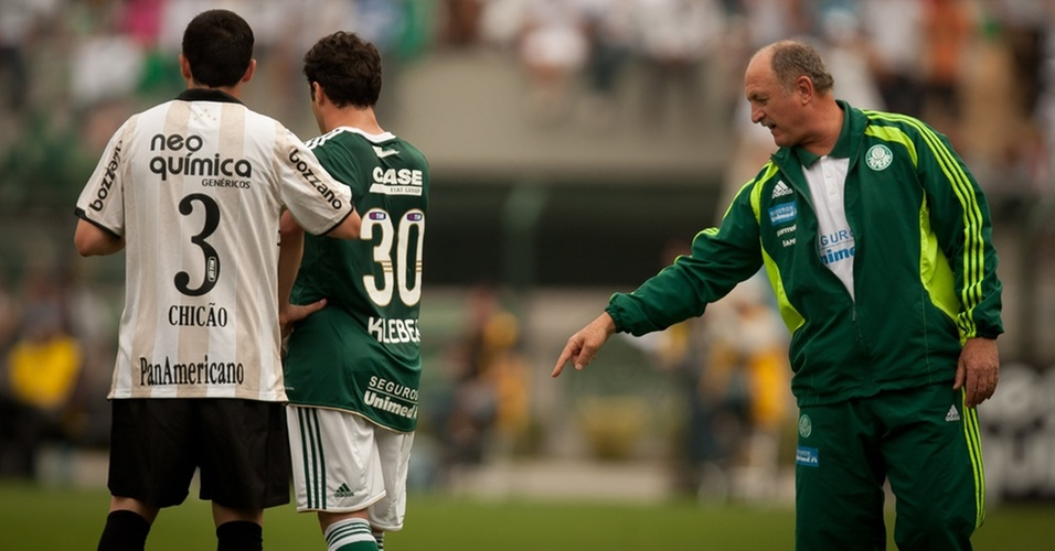 Luiz Felipe Scolari no clssico entre Corinthians x Palmeiras