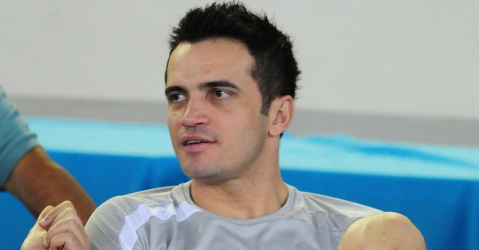 Falcão descansa em treino da seleção brasileira em Anápolis (GO)