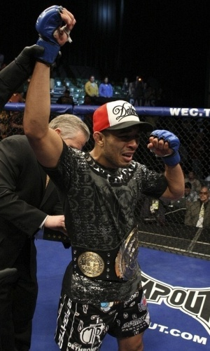 José Aldo, lutador brasileiro campeão dos penas do WEC