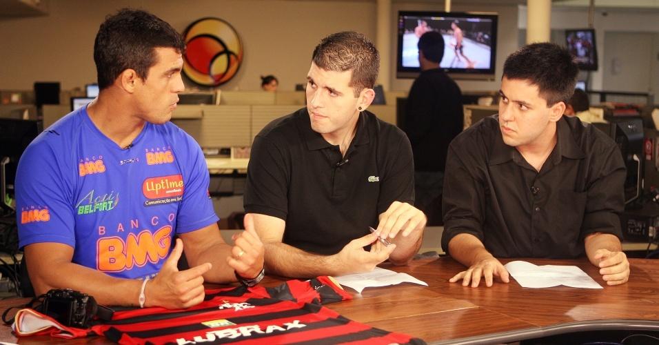 Vitor Belfort, lutador brasileiro, no UOL Esporte Entrevista