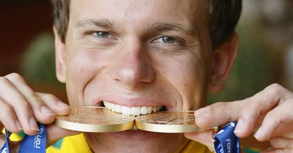 Cesar Cielo, campeão mundial dos 50m e 100m livre