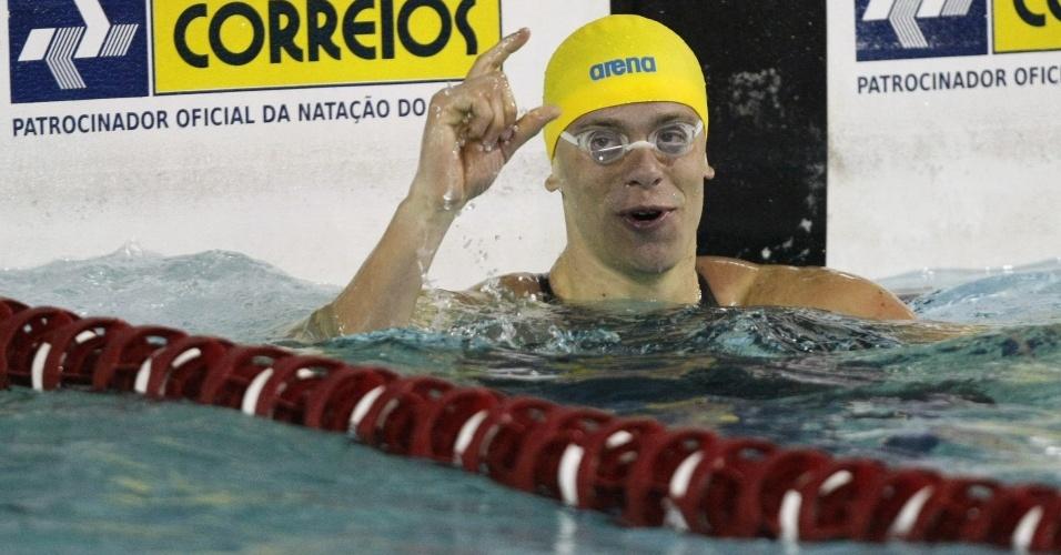 Cesar Cielo faz quinto melhor tempo da história dos 100 m, em São Paulo