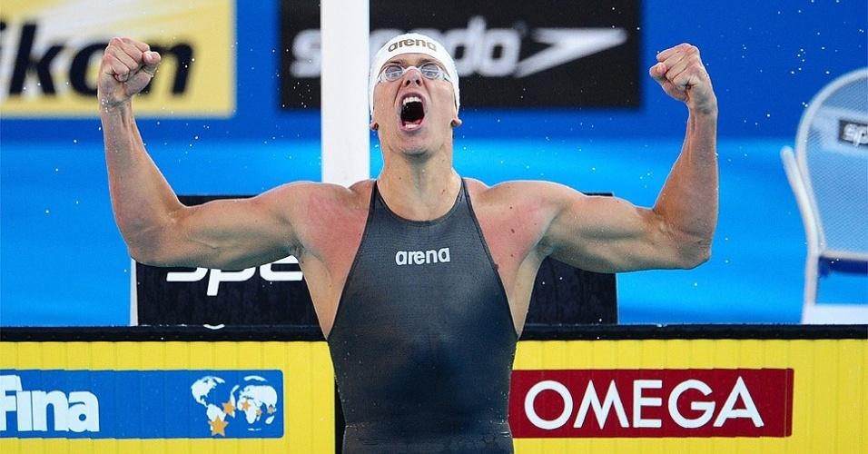 César Cielo quebra o recorde mundial dos 100m livre e ainda conquista o ouro no Mundial de Roma