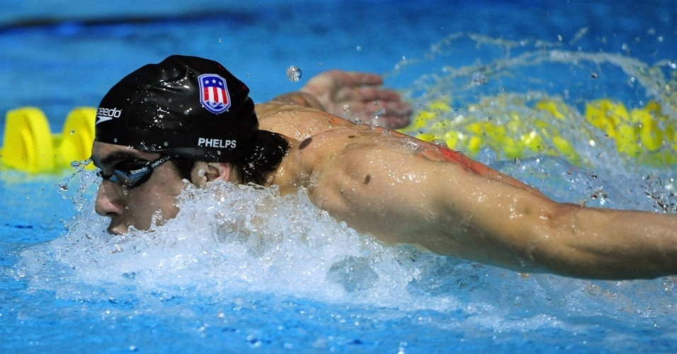 Michael Phelps nada revezamento 4x100m medley em Manchester