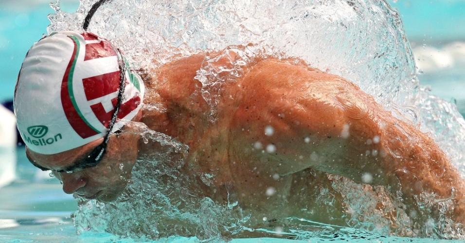 Kaio Márcio disputa os 100 m borboleta, em prova que ficou com o ouro