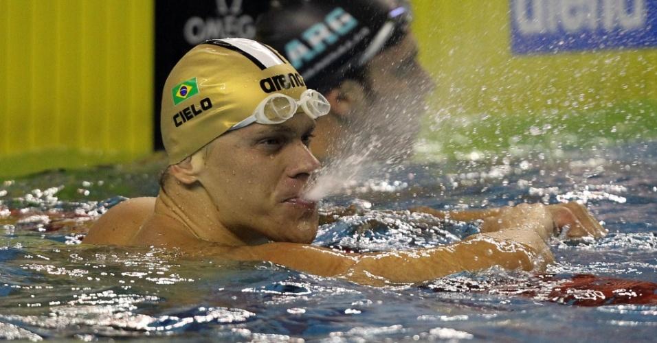 Cielo fecha em primeiro lugar as eliminatórias dos 100 m livre no Rio de Janeiro