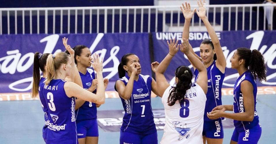Jogadoras da Blausiegel/São Caetano