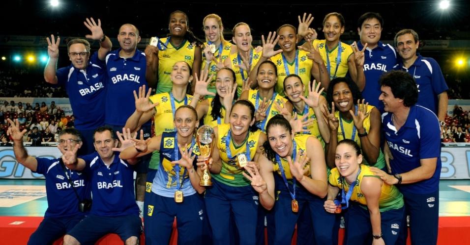 Seleção brasileira comemora oitavo título do Grand Prix