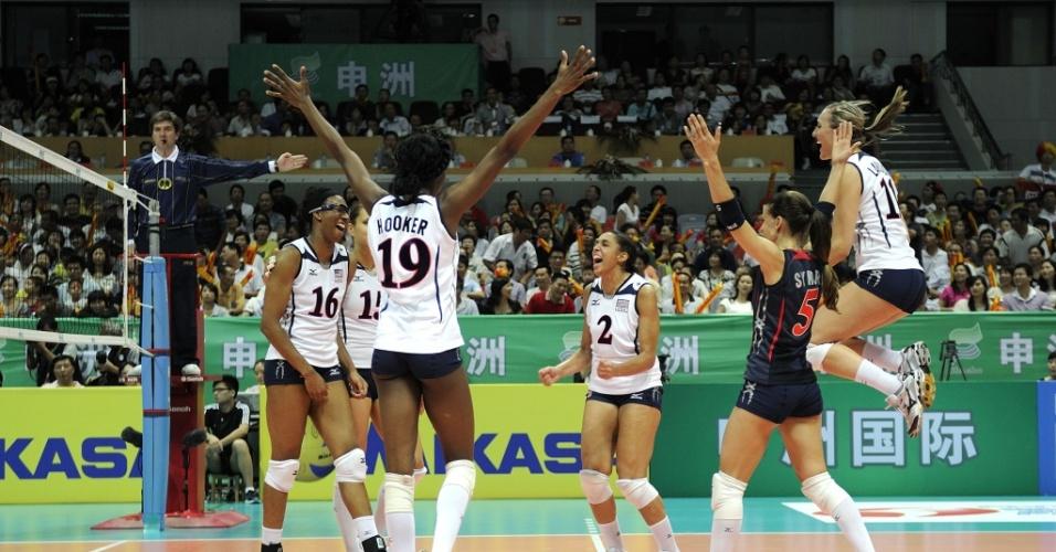 EUA comemoram vitória contra a China no GP