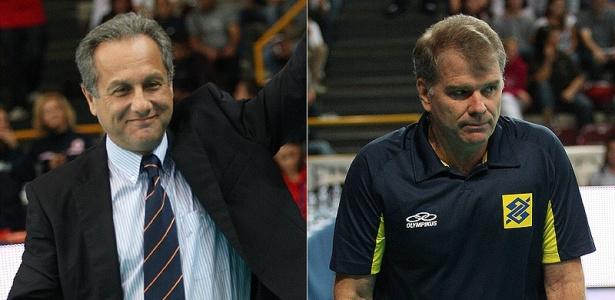 Jogo entre Espanha e Brasil opôs os técnicos Julio Velasco e Bernardinho