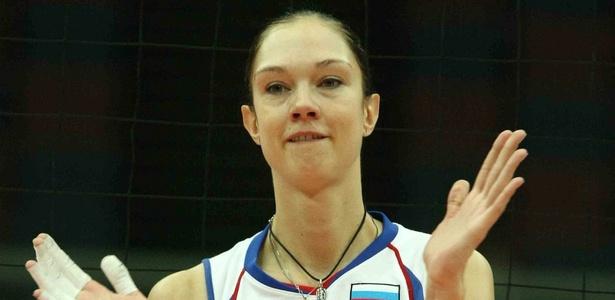 Gamova é uma das melhores jogadoras de vôlei do mundo e mede 2,02m