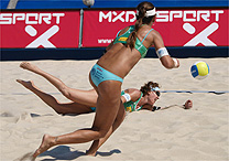 090703shelda Brasileiras vão às quartas do Mundial; Maria Clara/Carol está fora