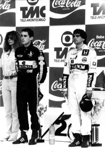 Senna faz primeira dobradinha com Piquet no GP Brasil de 1986