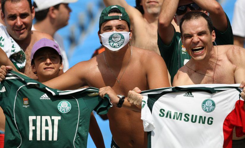 Empolgados com a briga pelo título, torcedores do Palmeiras compareceram ao Maracanã para a partida contra o Fluminense