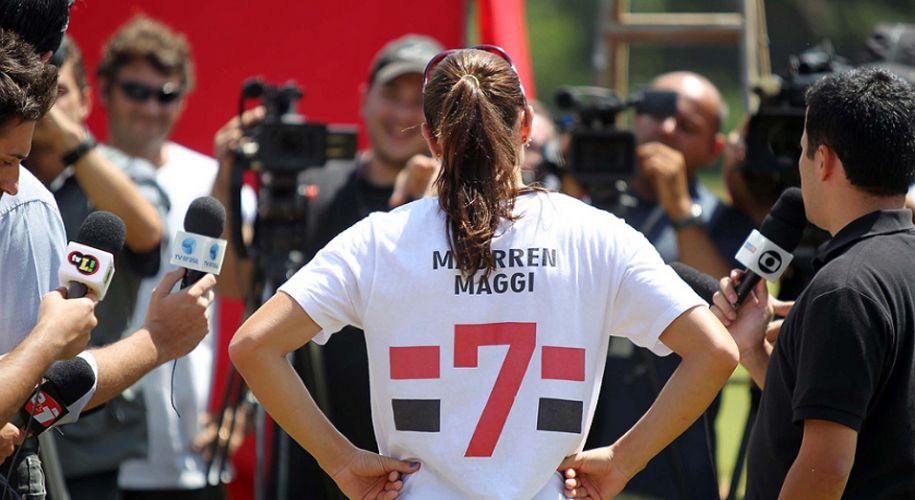Maurren dá entrevista em sua volta às competições, após seis meses parada por lesão no joelho