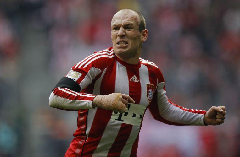 Robben deu um show à parte neste sábado com três gols na vitória do Bayern de Munique
