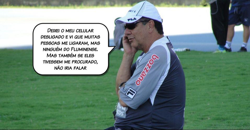 Recém-saído do Botafogo, Joel Santana admitiu que já procura lugar para trabalhar, mas também foi vetado pela Flusocio