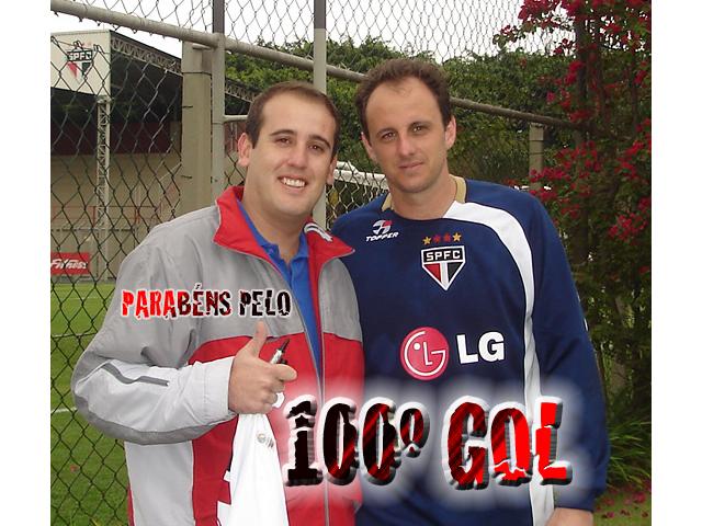 Sérgio Barino Pereira de Moraes homenageou o goleiro do São Paulo pelo seu centésimo gol