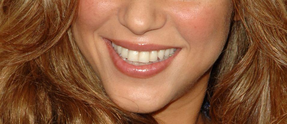 No detalhe: sorriso de Shakira