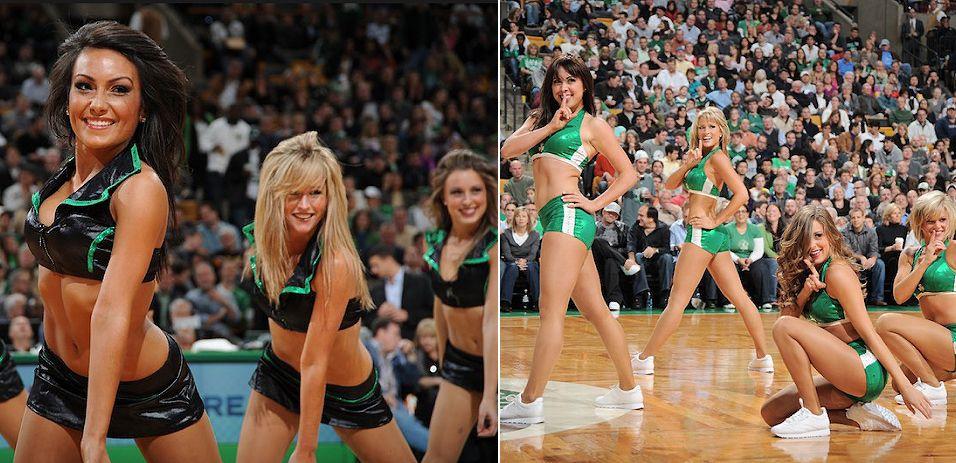 O sucesso do Boston Celtics dentro de quadra não se repetiu entre as animadoras. As dançarinas de Massachusetts foram eliminadas na primeira rodada pelo Miami Heat, dono de quadro títulos no torneio de cheerleaders