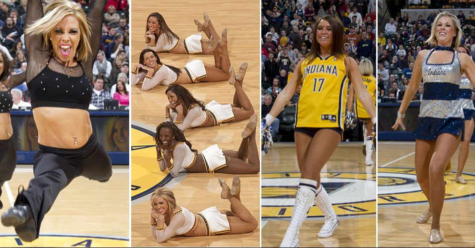 As dançarinas do Indiana Pacers acabaram preteridas pelos internautas no torneio de cheerleaders da NBA. Foram eliminadas logo na primeira rodada, em duelo contra o Toronto Raptors