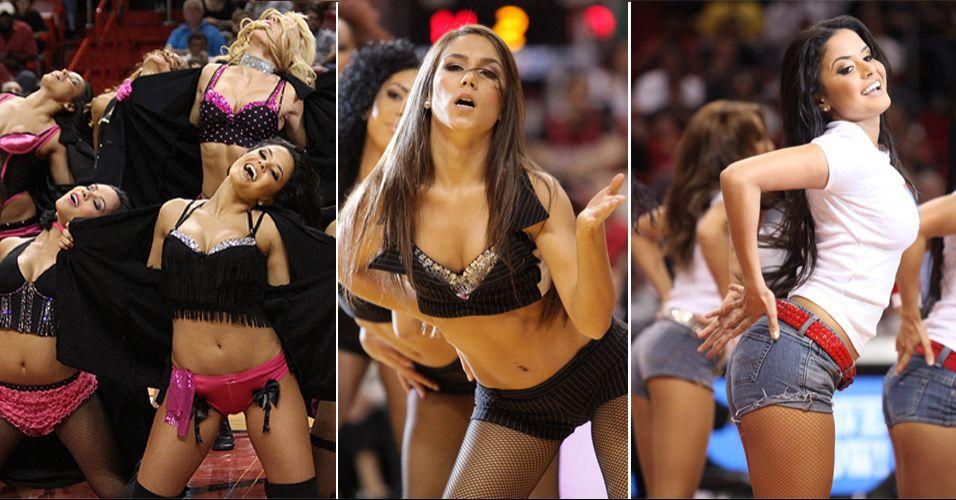 Donas de quatro títulos em seis edições, as cheerleaders do Miami Heat mostraram todo o seu talento, mas caíram na segunda rodada do concurso promovido pela NBA. Venceram o Boston Celtics na estreia, mas foram eliminadas contra as bicampeãs dos Bobcats