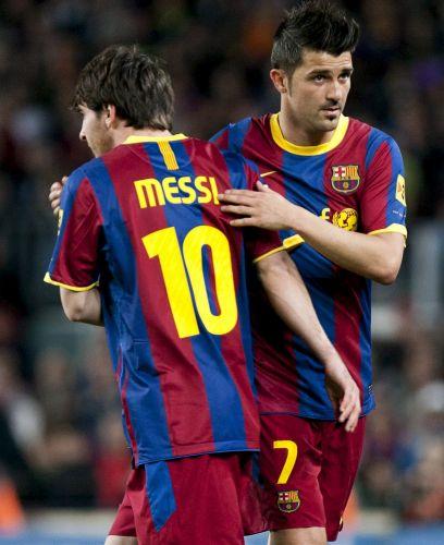 Messi entrou na 2º etapa no lugar de Villa e marcou o segundo gol da vitória do Barcelona sobre o Osasuna