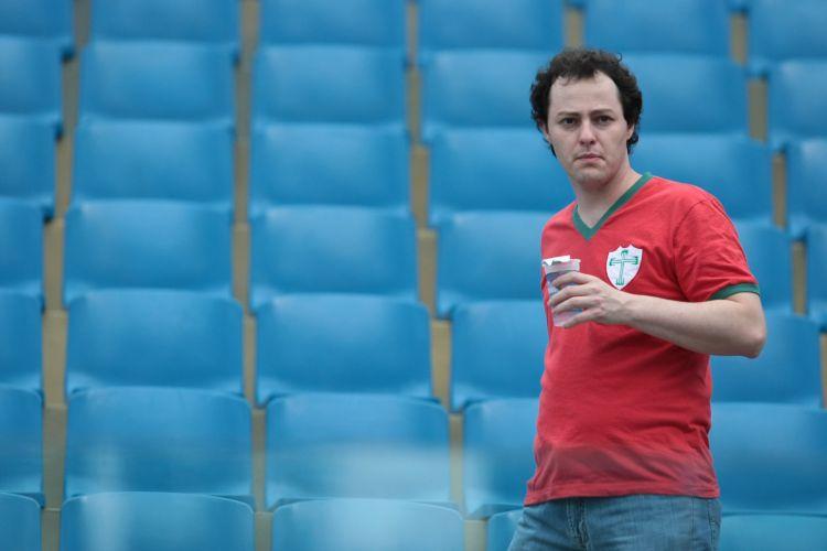 Torcida da Portuguesa à espera do jogo contra o São Paulo, em duelo que vale vaga nas semifinais do Paulistão 2011. Time tricolor venceu por 2 a 0 e se classificou