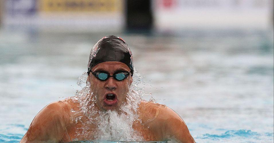 O nadador do Corinthians Thiago Pereira foi um dos destaques do Troféu Maria lenk nesta terça-feira