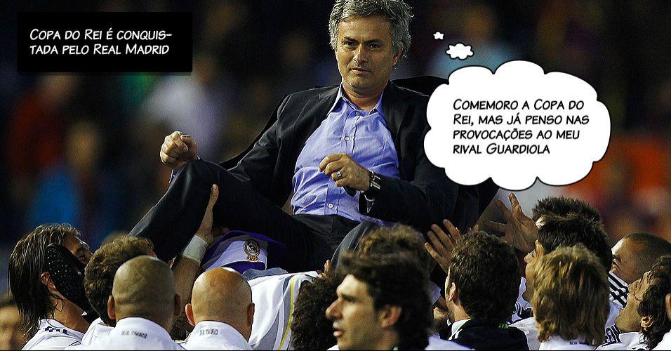 José Mourinho atacou o técnico do Barcelona, Pep Guardiola: