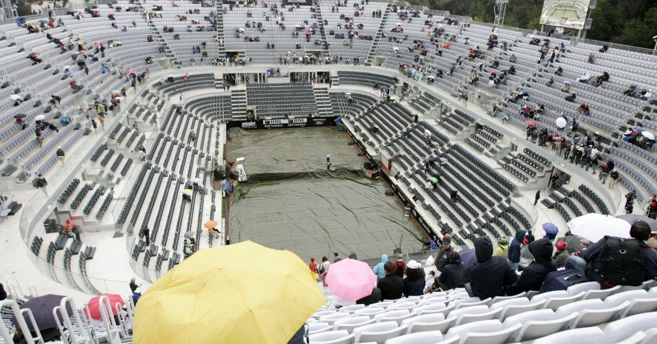 Chuva antes das partidas finais atrasa programação de Roma