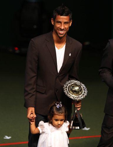Flamengo fez mais um vencedor na premiação do Campeonato Carioca, com o lateral-direito Léo Moura (16/05/11). Ele estava acompanhado da filha Isabella.