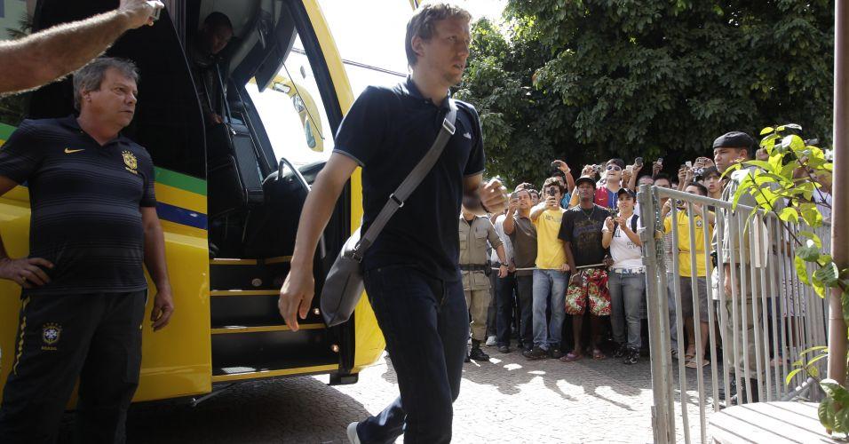 Lucas, do Liverpool, é titular absoluto na seleção de Mano Menezes
