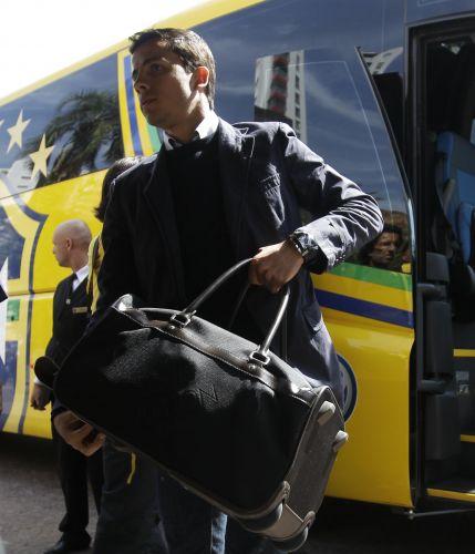 O atacante Nilmar é um dos remanescentes do grupo que foi à Copa da África do Sul