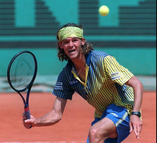 Tricampeão de Roland Garros e ídolo do tênis brasileiro, Gustavo Kuerten (em foto de 1997) participou do Pan Americano de Mar del Plata, em 1995, sem grande destaque.