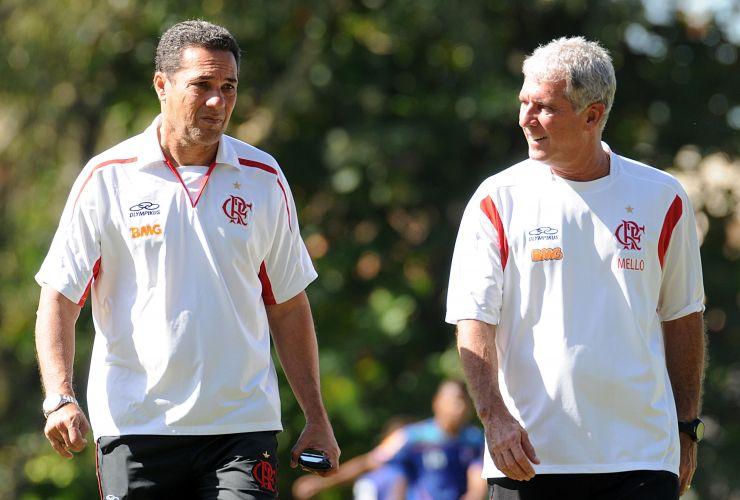 Luxemburgo treina o Flamengo antes do clássico contra o Botafogo