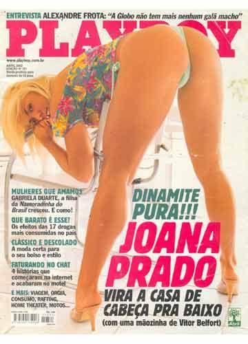 Logo após sair do programa Casa dos Artistas, Joana Prado posou novamente para a revista ao lado de Vítor Belfort