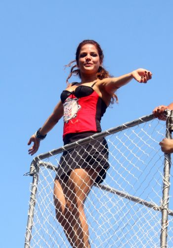 Atual namorada de Elano, Nivea Stelmann se diverte no carnaval do Rio de Janeiro, em 2011