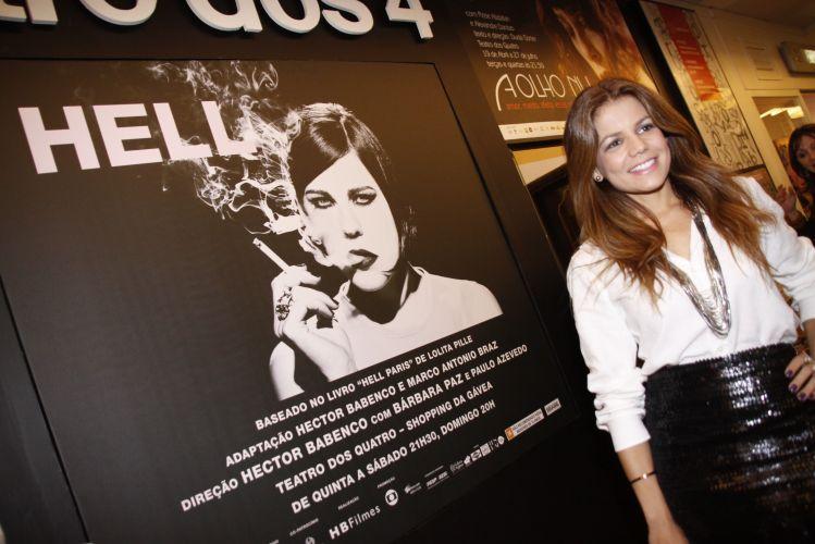 Nivea Stelmann prestigia a peça Hell, da atriz Barbara Paz, no Rio de Janeiro