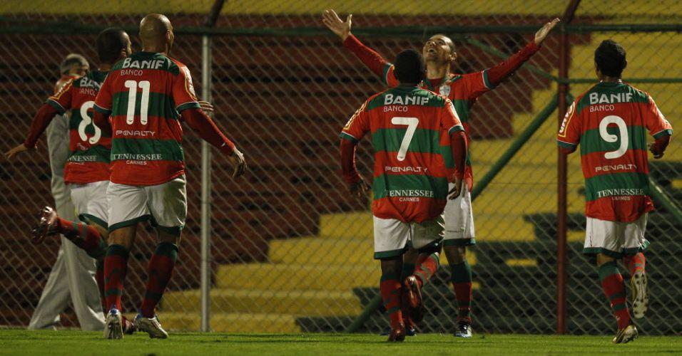Marcelo Cordeio agradece aos céus ao aumentar vantagem da Portuguesa sobre o São Caetano