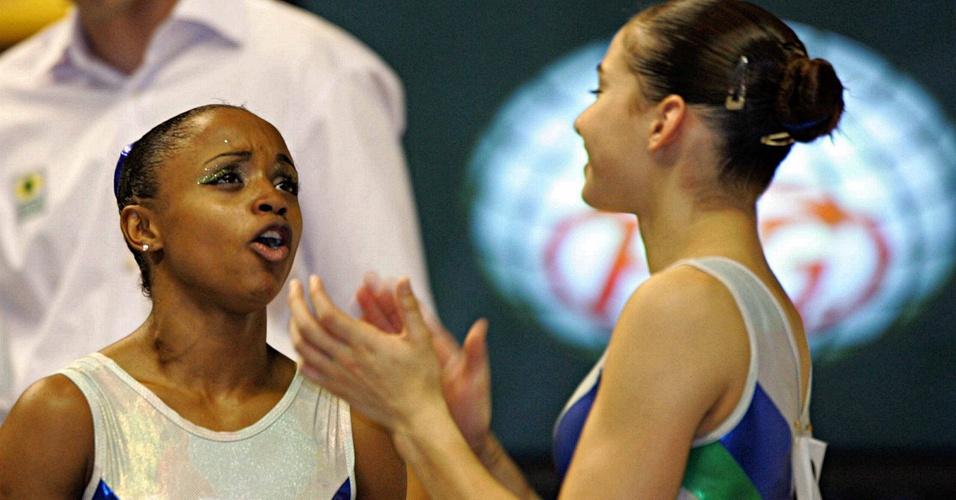 Daiane dos Santos e Laís Souza conviveram na seleção e treinam juntas no Pinheiros. Em um ambiente competitivo, elas conseguem se manter amigas apesar da rivalidade no esporte.