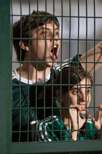 Garoto grita antes da partida entre Palmeiras e Flamengo, pela rodada do Campeonato Brasileiro
