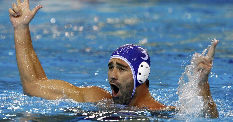 Zivko Gocic - sérvio fez parte da equipe vice-campeã mundial no pólo aquático após a derrota por 8 a 7 para a Itália na final